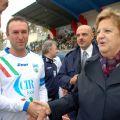 Fabio Fecci accoglie il Ministro in campo