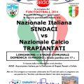 DOMENICA 18 MAGGIO A LONGARONE LA NAZIONALE ITALIANA SINDACI CON LA NAZIONALE TRAPIANTATI IN CAMPO PER AIDO