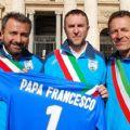 Il Mister Angelo Campi, il Capitano Fabio Fecci, Iil Presidente Enzo Manenti